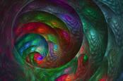 A fractal hole