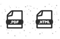 PDF and HTML icons