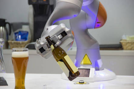 robot pours itself a beer
