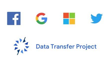 Logos of Facebook, Google, Microsoft, Twitter