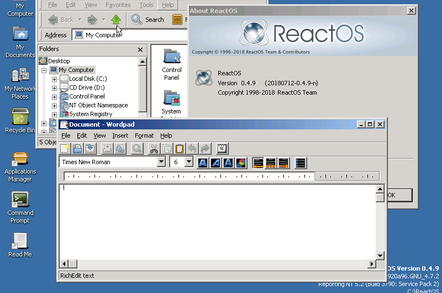 ReactOS 0 4 9 release metes out stability and self-hosting, still