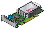 A solid state drive (SSD)