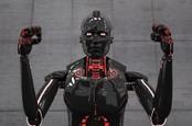 a black robot