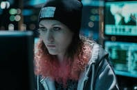 A black hat hacker