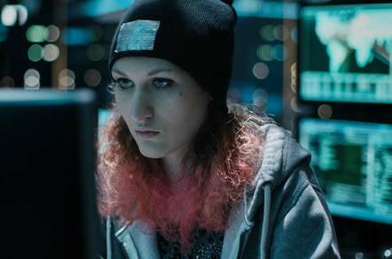 A black hat hacker
