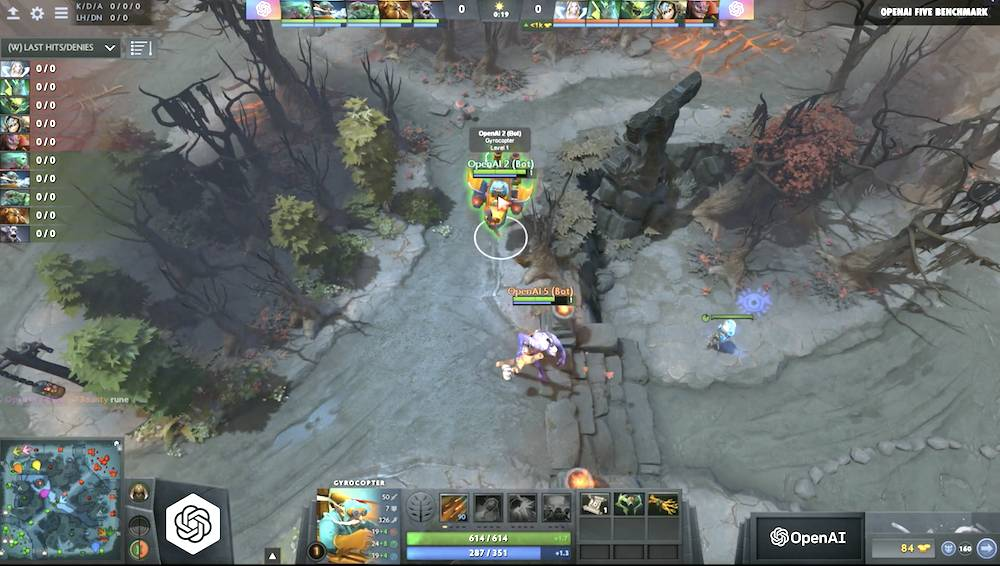 Ranked Dota 2 players demolished by AI