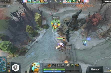 Screenshot from the DOTA OpenAI Twitch stream