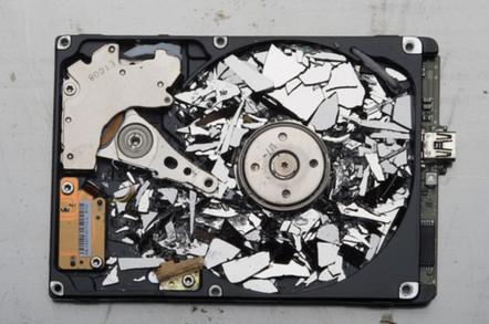 Shattered hard disk