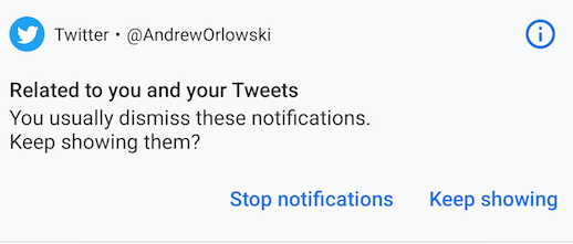 Android P notifications alert tweaked