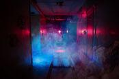 smoky backdrop emergency corridor