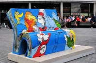 The Dr Seuss BookBench sculpture. Pic: shutterstock/ron ellis