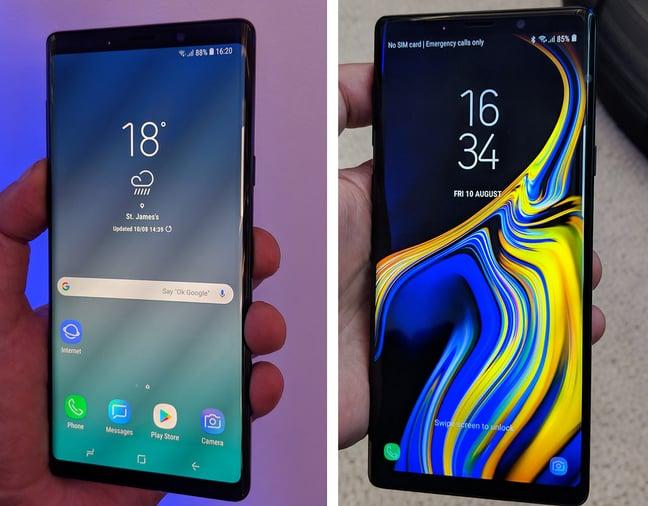 Galaxy Note9 duo shot
