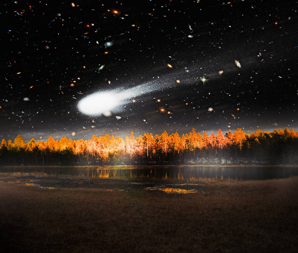 Earth`s oldest known evolved rocks result of collision of asteroids