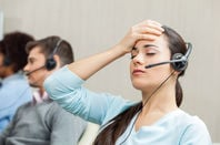 customer service people take pain from firm's customers