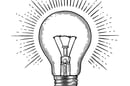 Lightbulb illustration mono Shutterstock