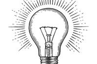 Lightbulb illustration mono Shutterstock