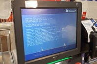 Windows XP running on a Tesco self checkout