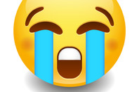 Facebook-style crying emoji