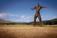 Wicker Man in landscape