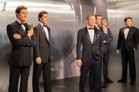 James Bond actors in wax figures