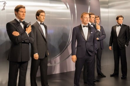 James Bond actors in wax figures