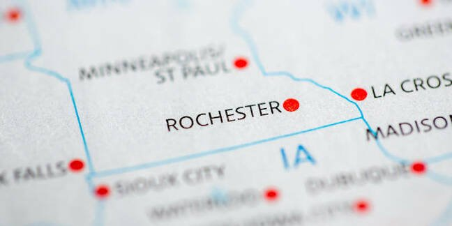 Rochester on the map