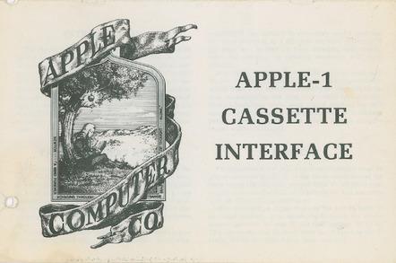 Apple I 1976 documentation