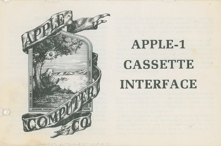 Apple I 1976 documentation