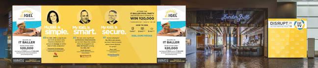 IGEL's branding on the Border Grill restaurant