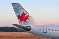 An Air Canada plane from Shutterstock