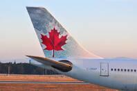 An Air Canada plane from Shutterstock