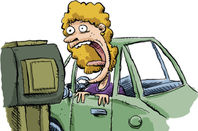 Angry woman screams at Drive Thru machine