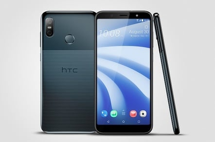 HTC U12 Life three view in 'Moonlight Blue'