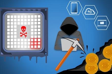Cryptojacking illustration
