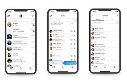 Skype's redesignd mobile UI