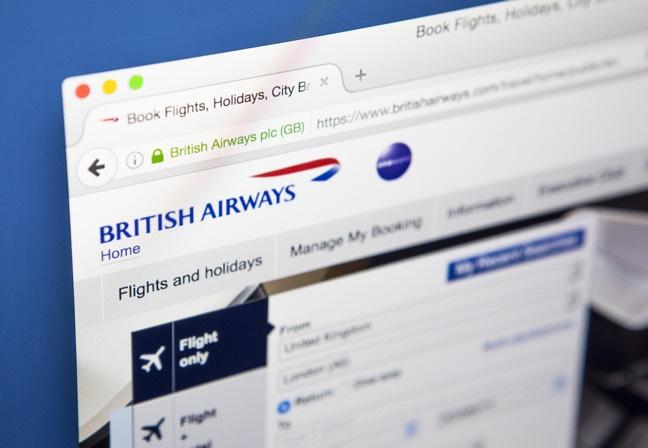 British Airways website