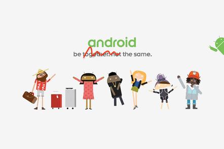 Android promo tweaked by El Reg