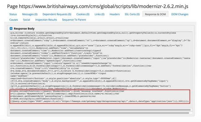 BA suspicious script [source: RiskIQ blog post]