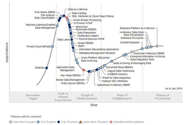 Gartner Data Management Hype Cycle