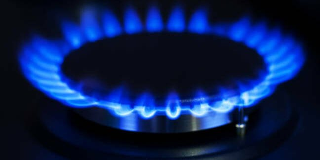 gas ring on a stove hob
