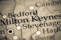 Milton Keynes on a map