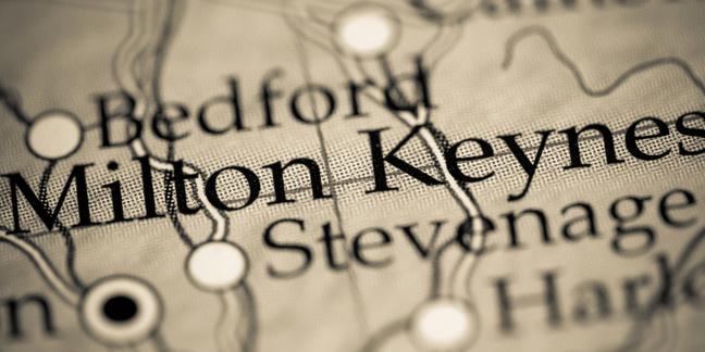 Milton Keynes on a map