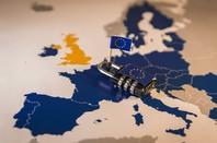 Map of Europe, with lock symbolizing GDPR