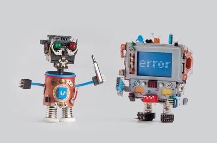 Robot repairing another
