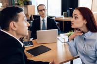 three execs worried in office