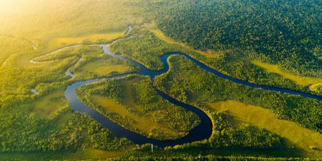 amazon river in brazil rainforest