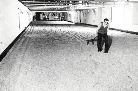 Ansells malting The floors used for barley  malting Image Historic England