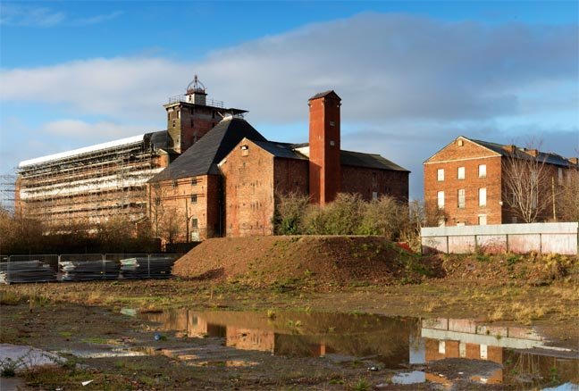 Shrewsbury Flaxmill Maltings. Copyright: Historic England