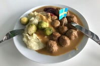 Traditional swedish meatballs in IKEA store restaurant. Pic: Nino Pavisic